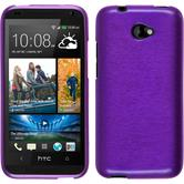 Silicone Case for HTC Desire 601 brushed purple