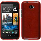 Silicone Case for HTC Desire 601 brushed red