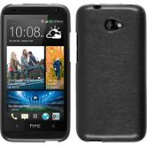 Silicone Case for HTC Desire 601 brushed silver