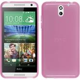 Silicone Case for HTC Desire 610 transparent pink