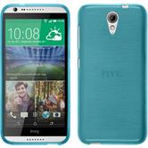 Silicone Case for HTC Desire 620 brushed blue