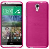 Silicone Case for HTC Desire 620 brushed hot pink