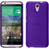 Silicone Case for HTC Desire 620 brushed purple