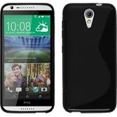 Silicone Case for HTC Desire 620 S-Style black
