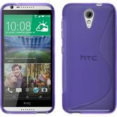 Silicone Case for HTC Desire 620 S-Style purple