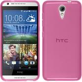 Silicone Case for HTC Desire 620 transparent pink