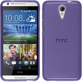 Silicone Case for HTC Desire 620 transparent purple