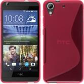 Silicone Case for HTC Desire 626 S-Style hot pink