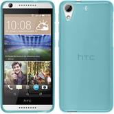 Silicone Case for HTC Desire 626 transparent turquoise