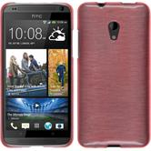 Silicone Case for HTC Desire 700 brushed pink