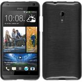 Silicone Case for HTC Desire 700 brushed silver