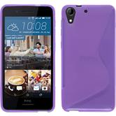 Silicone Case for HTC Desire 728 S-Style purple