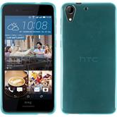 Silicone Case for HTC Desire 728 transparent turquoise