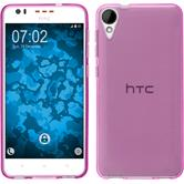 Silicone Case for HTC Desire 825 crystal-case hot pink