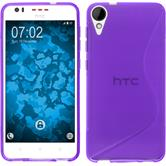 Silicone Case for HTC Desire 825 S-Style purple