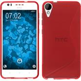 Silicone Case for HTC Desire 825 S-Style red