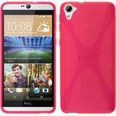 Silicone Case for HTC Desire 826 X-Style hot pink