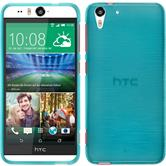 Silicone Case for HTC Desire Eye brushed blue