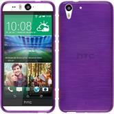 Silicone Case for HTC Desire Eye brushed purple
