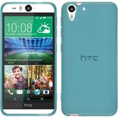 Silicone Case for HTC Desire Eye transparent turquoise