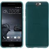 Silicone Case for HTC One A9 transparent turquoise