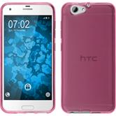 Silicone Case One A9s transparent hot pink