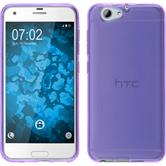 Silicone Case One A9s transparent purple