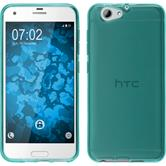 Silicone Case One A9s transparent turquoise
