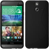 Silicone Case for HTC One E8 S-Style black