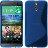 Silicone Case for HTC One E8 S-Style blue