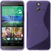 Silicone Case for HTC One E8 S-Style purple