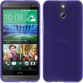 Silicone Case for HTC One E8 transparent purple