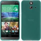 Silicone Case for HTC One E8 transparent turquoise