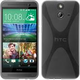 Silicone Case for HTC One E8 X-Style gray