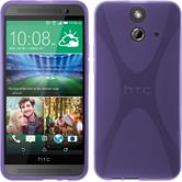 Silicone Case for HTC One E8 X-Style purple
