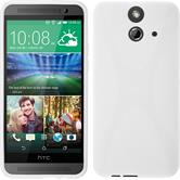Silicone Case for HTC One E8 X-Style white