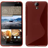 Silicone Case for HTC One E9+ S-Style red