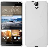 Silicone Case for HTC One E9+ S-Style white