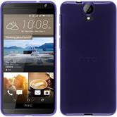 Silicone Case for HTC One E9+ transparent purple
