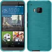 Silicone Case for HTC One M9 brushed blue