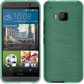 Silicone Case for HTC One M9 brushed green