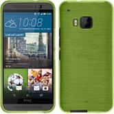 Silicone Case for HTC One M9 brushed pastel green