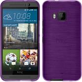 Silicone Case for HTC One M9 brushed purple