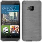 Silicone Case for HTC One M9 brushed white