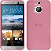 Silicone Case for HTC One M9 Plus transparent pink