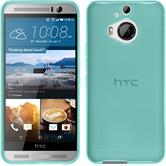 Silicone Case for HTC One M9 Plus transparent turquoise