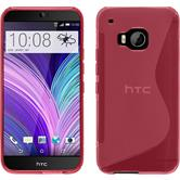 Silicone Case for HTC One M9 S-Style hot pink