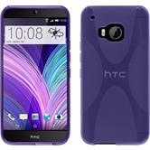 Silicone Case for HTC One M9 X-Style purple