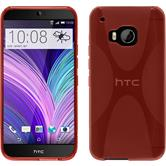 Silicone Case for HTC One M9 X-Style red