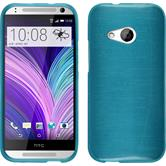 Silicone Case for HTC One Mini 2 brushed blue